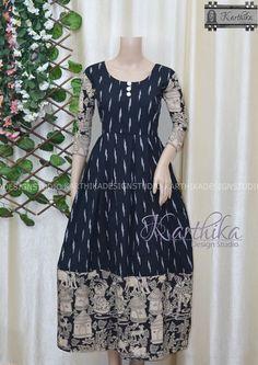 Kalamkari Blouse Designs, Kalamkari Dresses, Cotton Saree Designs, Ikkat Dresses, Sari Blouse Designs, Bandhani Dress, Churidar Designs, Dress Designs, Indian Fashion Dresses