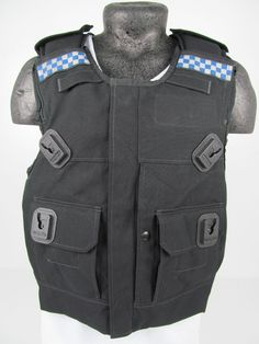 Police Kevlar Security Stab Bullet Ballistic Proof Body Armour Armor Vest AH9 in Collectables | eBay