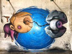 Varese, Italy: new piece by italian street artists Andrea Crea and Paride Bertolin aka Jab.