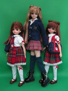 Barbie~Takara Dolls [from left to right] Ryssa, Jenny, Reina Little Doll, Little My, Japanese Toys, Kawaii Doll, Clothing Patterns, Sewing Patterns, Ball Jointed Dolls, Doll Face, Diy Toys