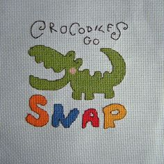 Cross Stitch - Crocodile panel for Kids Company Project - stitched March 2011