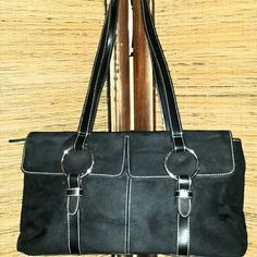 Black Suede Purse