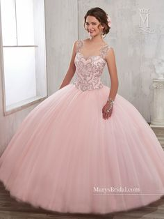 f337cd183a5 Illusion A-line Quinceanera Dress by Mary s Bridal Beloving 4802
