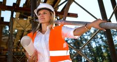 A young female constructor at building of a new motorway in Germany (Shutterstock)