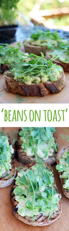 It's beans on toast, but not as you know it. This is beans on toast, the spring edit! Light, refreshing and packed with plant protein for a delicious and healthy meal. Dairy Free Recipes, Vegetarian Recipes, Healthy Recipes, Vegan Vegetarian, Fast Recipes, Vegan Food, Breakfast Bites, Best Breakfast, Beans On Toast