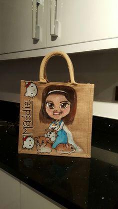Personalised jute bag by Drews Jutes