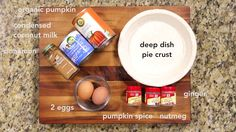 This homemade pumpkin pie is easy to make and delicious thanks to a lick-the-can-good secret ingredient: sweetened condensed coconut milk. Homemade Pumpkin Pie, Pumpkin Spice, Gluten Free Desserts, Vegan Desserts, Condensed Coconut Milk, Gluten Free Living, Deep Dish, Happy Thanksgiving, Holiday Recipes