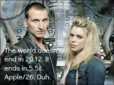 The world doesn't end in 2012. It ends in 5.5/Apple/26. And then we just go to New Earth.