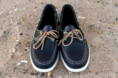 Sebago Spinnaker Navy Green Pine