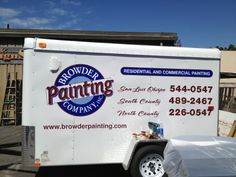 Trailer lettering for Browder Painting, to see more please visit our web site here: http://bit.ly/1m47jn9