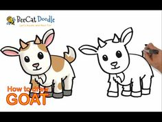 How To Draw Goat How To Draw Goats American Fainting Goat