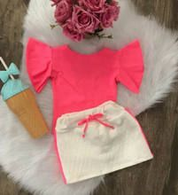 kids baby girl clothing Girl Outfits Clothes Fly Sleeve T-shirt Tops Tutu Skirt Fashion Kids, Toddler Fashion, Baby & Toddler Clothing, Toddler Outfits, Kids Outfits, Girl Clothing, Girls Summer Outfits, Summer Girls, Summer Clothes