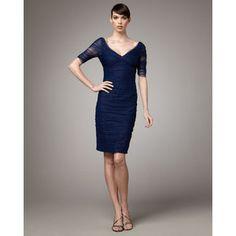 Women's Monique Lhuillier Ruched Cocktail Dress - Neimanmarcus.com