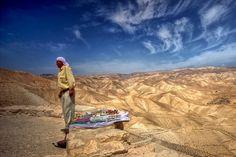 Desert of Judea - seller of souvenirs Credit: Marian Stanislawski (Click to Support Artist)