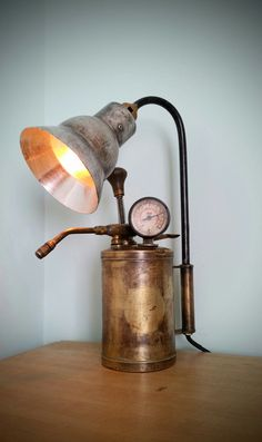 Shipping Furniture To Hawaii Industrial Style Lighting, Rustic Lighting, Interior Lighting, Industrial Lamps, Art Steampunk, Steampunk House, Lampe Pigeon, Steampunk Furniture, Creative Lamps