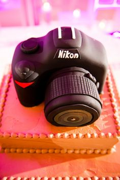nikon groom's wedding cake!
