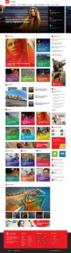 NewEdge - Responsive WordPress Magazine Theme #website Live Preview and Download: http://themeforest.net/item/newedge-responsive-wordpress-magazine-theme/13740297?ref=ksioks