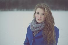 In snowy silence