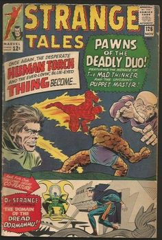 Items similar to Doctor Strange Tales Vintage books. 1966 Marvel Comics, FN or FVF on Etsy Comic Book Villains, Marvel Comic Books, Comic Book Characters, Comic Books Art, Comic Character, Book Art, Dr Strange Marvel, Doctor Strange, Marvel Vs