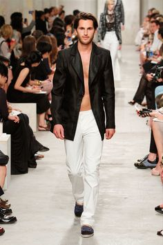 Dress down a tuxedo with espadrilles - Chanel Cruise 2014