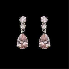 $28 Elegant Cubic Zirconia Earrings E 2845