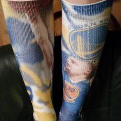 Bustin' out my Steph Curry #socks for the #nbaplayoffs! #nbasocks by @fbforiginals! #sockswag #DubNation #Dubs #LetsGoWarriors! #splashbrothers