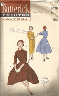 1950s Slim Sheath Dress Full Skirt Dress Push Up by kinseysue