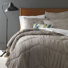 Cora Rouched Quilt + Shams - Platinum | west elm