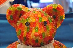 a gummy bear made out of gummy bears ! LOL.....too cute !!