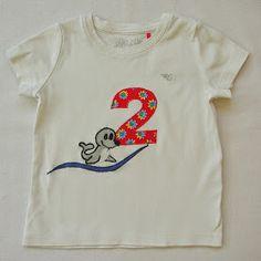 kleine Kuschelrobbe: Geburtstagsshirts aus dem letzten Jahr