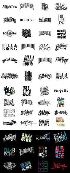 Too Good Design // 4  ray dombroski, hand drawn logotypes-billabong