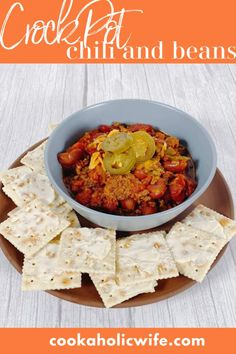 Crock Pot Chili and Beans is a full of flavor with simple ingredients, but lets the crock pot do all of the work.