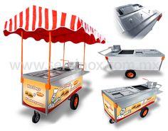 Coffee Carts, Coffee Shop, Taco Cart, American Dinner, Hot Dog Cart, Meals On Wheels, Food Truck, Street Food, Hot Dogs
