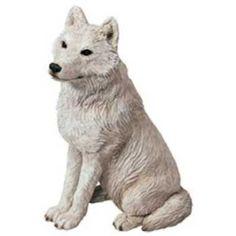 arctic white wolf figurine sandicast ms505
