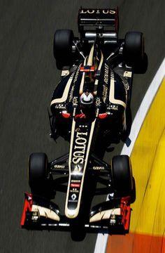 El Lotus E20 de Kimi Raikkonen durante el Gran Premio de Europa en Valencia ... donde terminó 2°