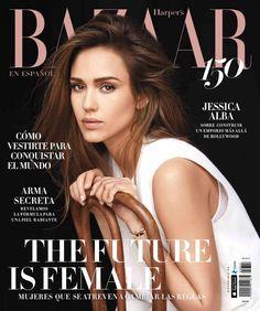 Best Cover Magazine - Jessica Alba for Harper's Bazaar En Español March 2017 - CoDesign Magazine Magazine Vogue, Fashion Magazine Cover, Fashion Cover, Magazine Covers, Frankie Magazine, Magazin Design, Harper's Bazaar, How To Pose, Hollywood