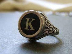 Typewriter key ring.