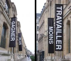 a small reminding from 2007 Wayfinding Signs, Signage, Sign Design, Banner Design, Beaux Arts Paris, Flag Banners, Flags, Environmental Design, Hanging Signs