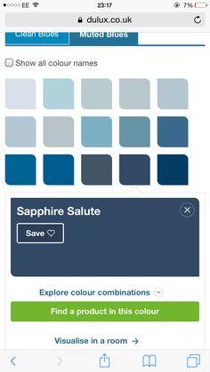 Sapphire blue - navy blue Dulux paint