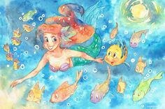 Ariel and Flounder!