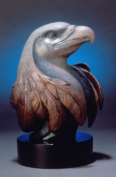 Many Winters Bronze Sculpture Eagle Bust by Regat Studio