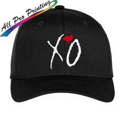 3bdb5b60ad6 XO Embroidered Flexfit Hat The Weeknd Drake by AllProPrinting The Weeknd