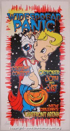 1998 Widespread Panic - NOLA Concert Poster - JT Lucchesi