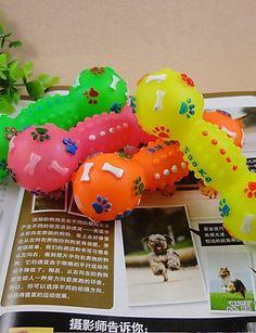 Aus der Kategorie Welpenspielzeug  gibt es, zum Preis von   Für:Katzen, Hunde,<br />Typ:Bälle,<br />Material:Gummi,<br />Farbe:Zufällige Farben,<br />Maße (cm):13*4.5,<br />Netto Gewicht (kg):0.03,<br />