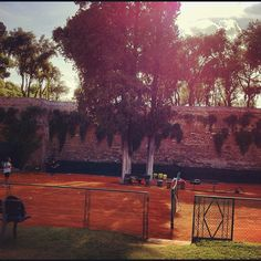 An amazing tennis court in Rome.  Beautiful spot with a uniquely European surroundings.  #tennis