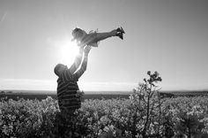 Father and daughter - Playing in the canola fields - 3rd Birthday (Photo taken by Marike Herzberg)