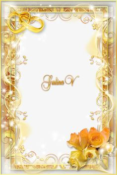 Borders For Paper, Borders And Frames, Wedding Invitation Background, Wedding Invitations, Photo Frame Ornaments, Birthday Frames, Digital Photo Frame, Png Photo, Frame Clipart