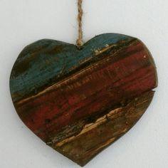 coração de  madeira de palete