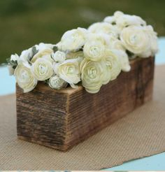 Love this as centerpieces for a rustic outdoor wedding