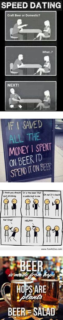 The 50 Best, Funniest, Most Clever And Outrageous Beer Memes Around from @craftbeerhound